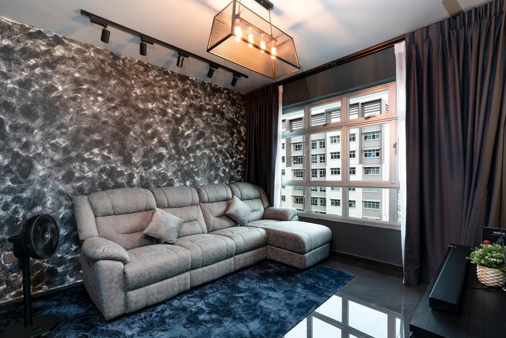 Contemporary, HDB, Living Room, Rivervale Crescent, Interior Designer, ChengYi Interior Design