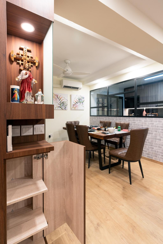 Contemporary, HDB, Dining Room, Bukit Batok Street 41, Interior Designer, ChengYi Interior Design