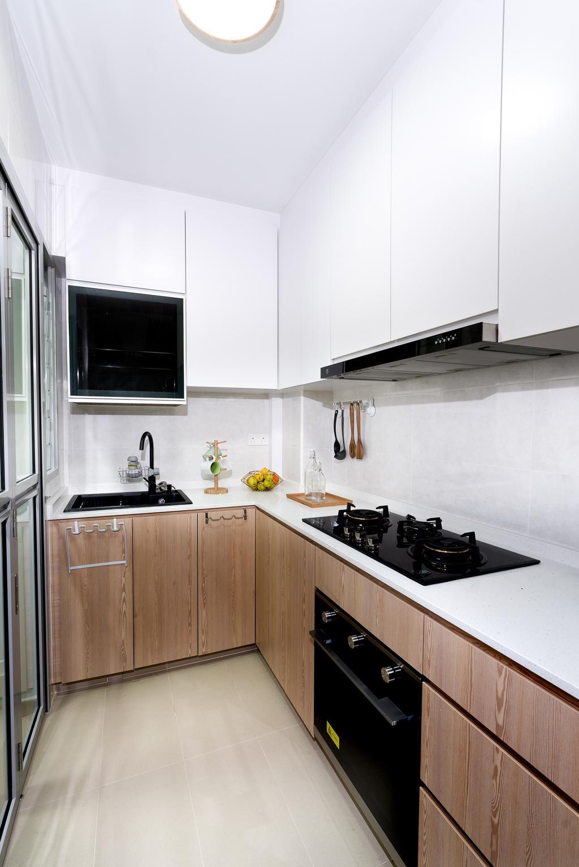 Scandinavian, HDB, Kitchen, Tampines North Drive 1, Interior Designer, ChengYi Interior Design