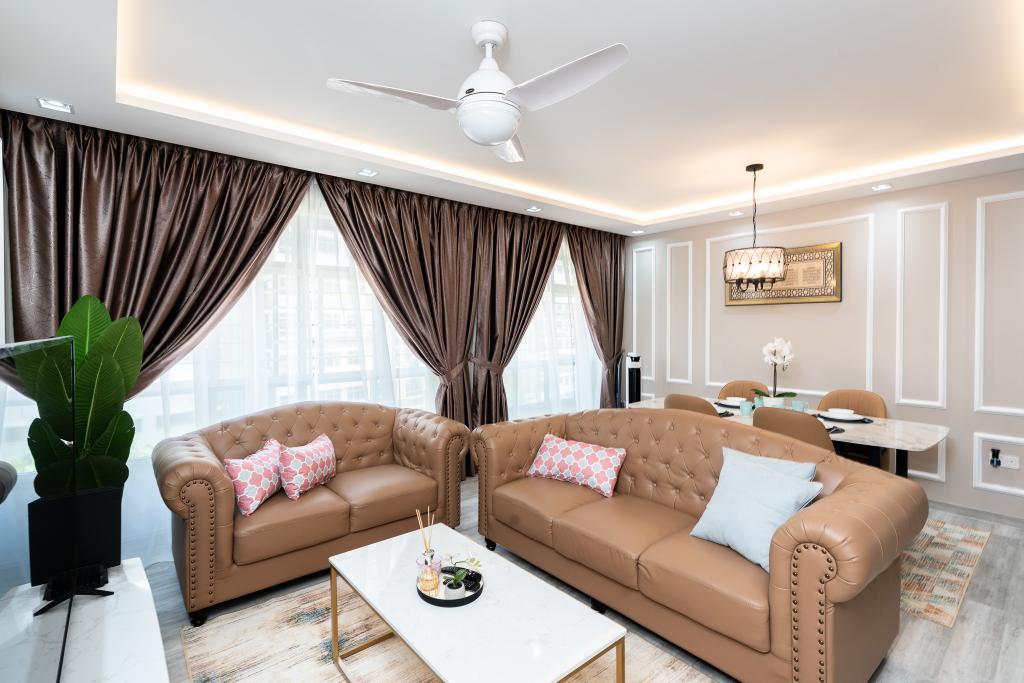 Contemporary, HDB, Living Room, Tampines North Drive 1, Interior Designer, ChengYi Interior Design