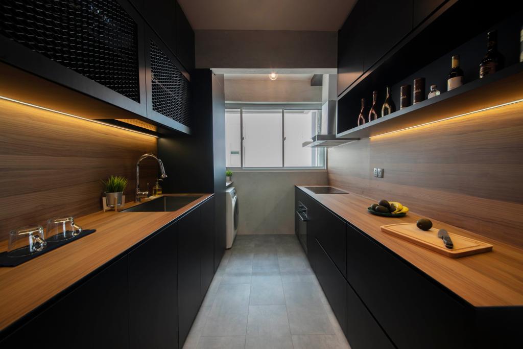 Modern, HDB, Kitchen, Bukit Batok West Avenue 6, Interior Designer, Aart Boxx Interior, Industrial