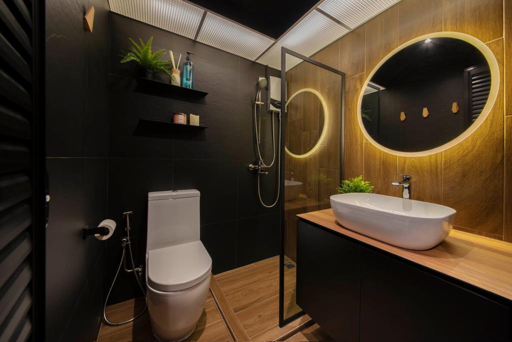 Modern, HDB, Bathroom, Bukit Batok West Avenue 6, Interior Designer, Aart Boxx Interior, Industrial