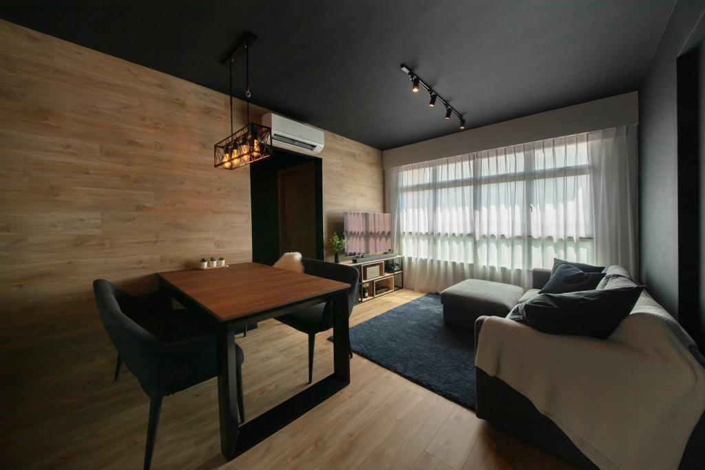 Modern, HDB, Dining Room, Bukit Batok West Avenue 6, Interior Designer, Aart Boxx Interior, Industrial