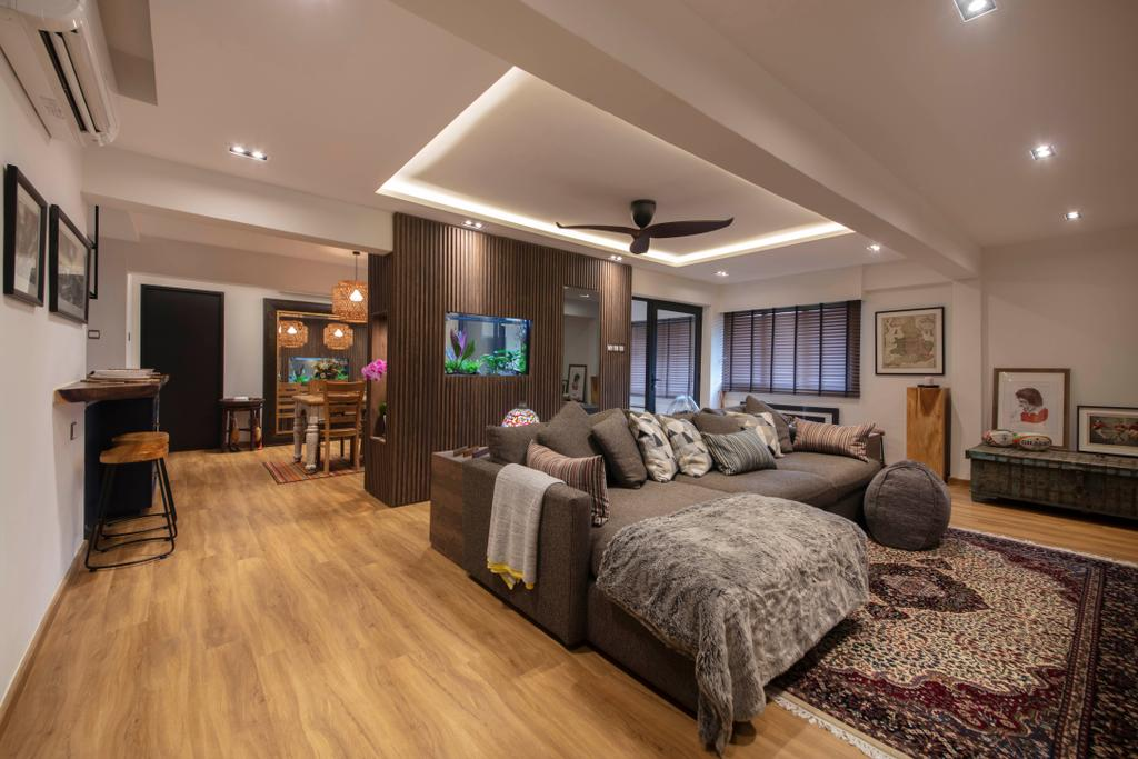 Contemporary, HDB, Living Room, Woodlands Street 13, Interior Designer, Aart Boxx Interior, Eclectic