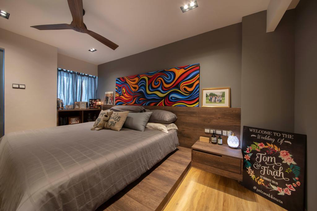 Contemporary, HDB, Bedroom, Woodlands Street 13, Interior Designer, Aart Boxx Interior, Eclectic