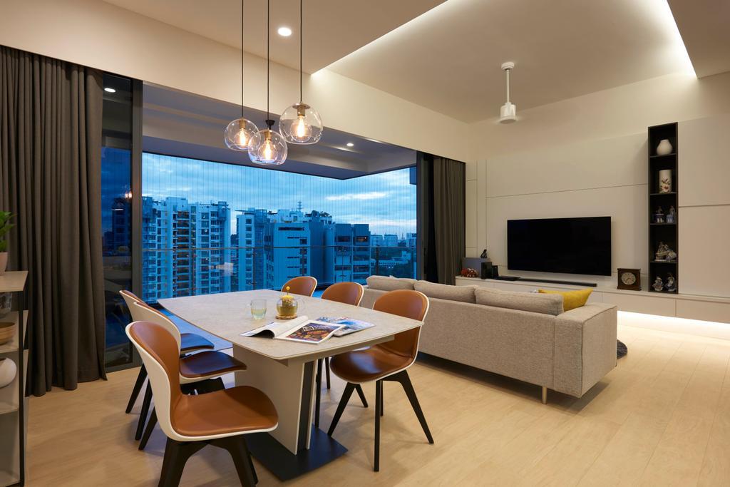 Contemporary, Condo, Living Room, The Trizon, Interior Designer, Spire Id