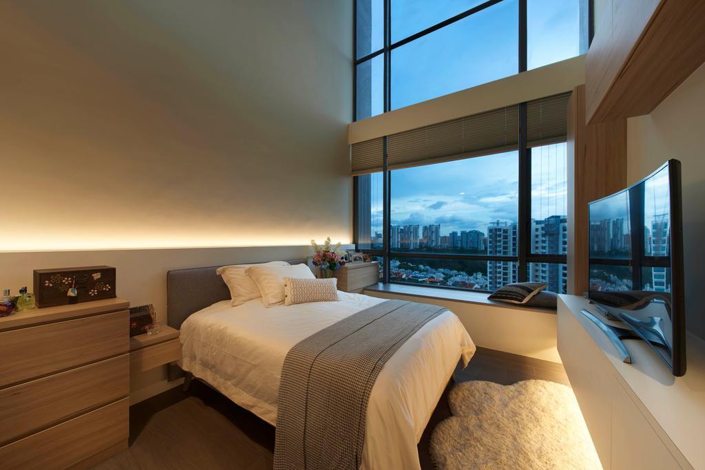 Contemporary, Condo, Bedroom, The Trizon, Interior Designer, Spire Id