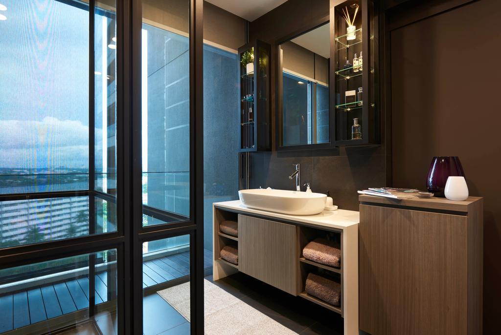 Contemporary, Condo, Bathroom, The Trizon, Interior Designer, Spire Id