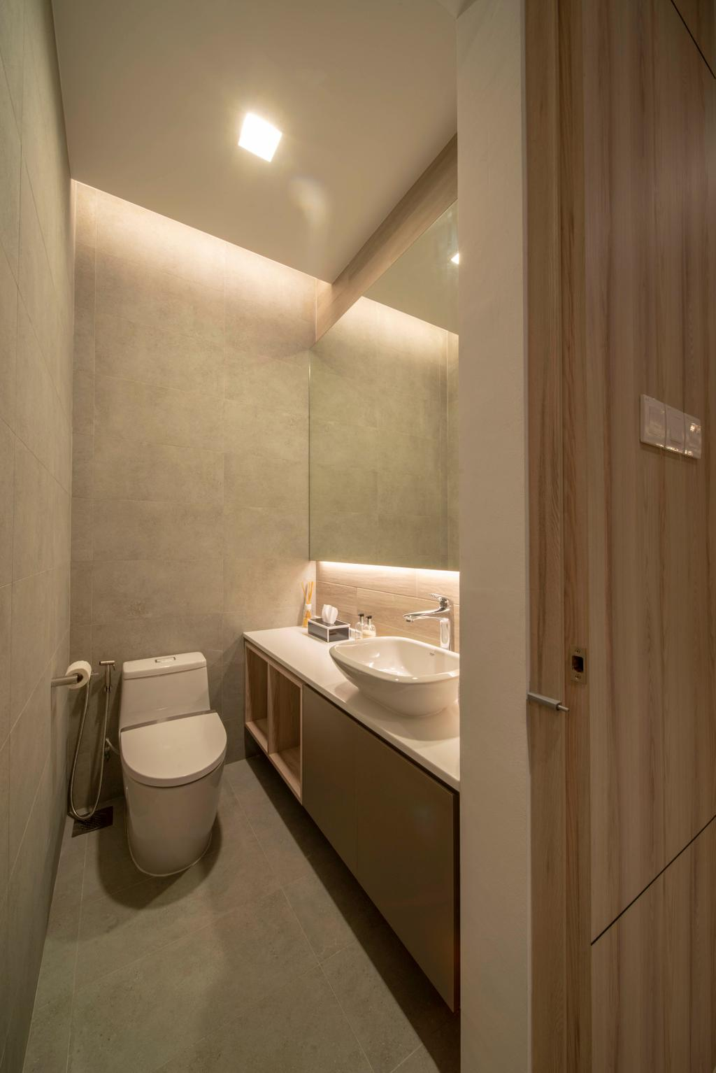 Contemporary, Landed, Bathroom, Begonia Walk, Interior Designer, Dyel Design