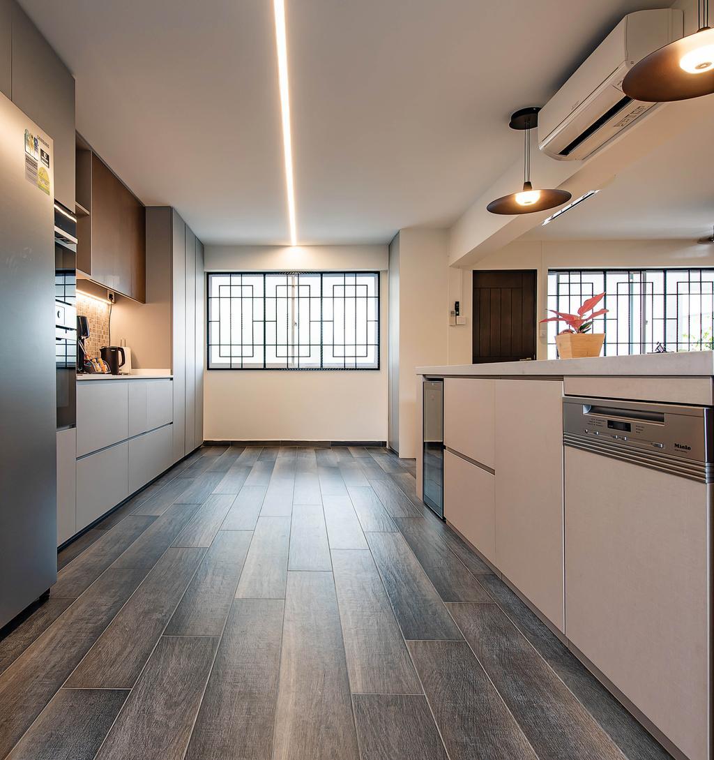Modern, HDB, Kitchen, Choa Chu Kang Avenue 1, Interior Designer, Dyel Design, Contemporary