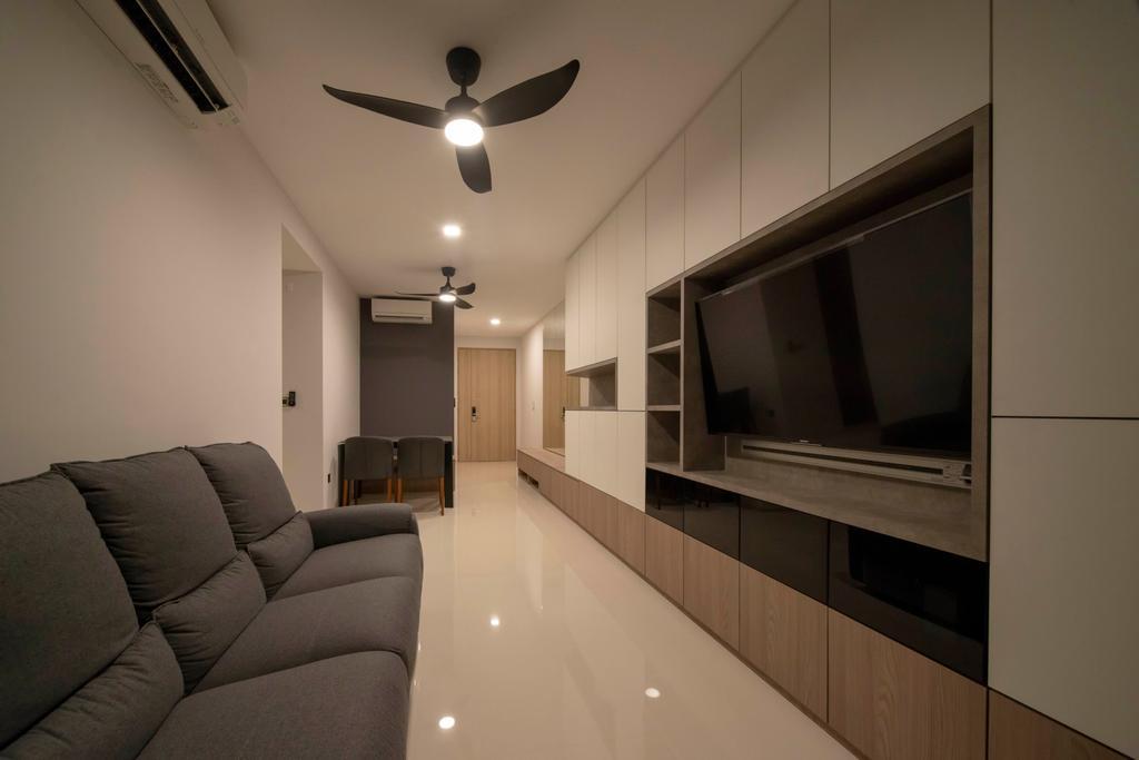 Modern, Condo, Living Room, The Wisteria, Interior Designer, Dyel Design, Industrial