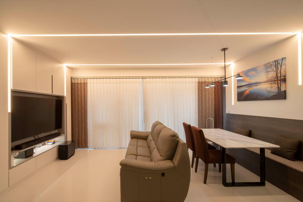 Modern, Condo, Living Room, North Park Residences, Interior Designer, Dyel Design, Contemporary