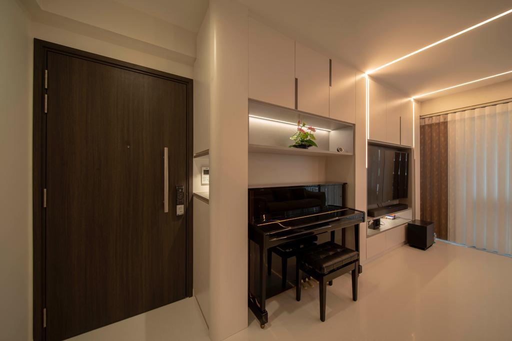 Modern, Condo, Living Room, North Park Residences, Interior Designer, Dyel Design, Contemporary