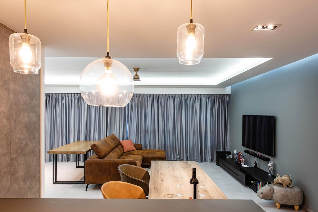 Contemporary, HDB, Living Room, Yishun Avenue 9, Interior Designer, Dyel Design