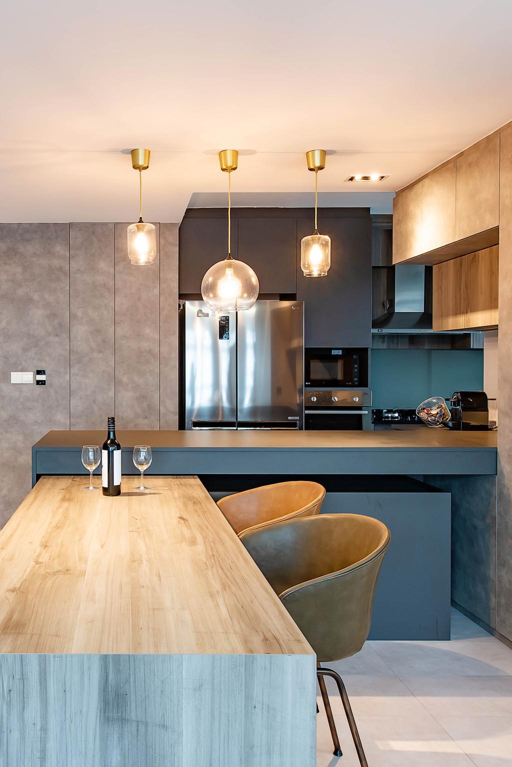 Contemporary, HDB, Dining Room, Yishun Avenue 9, Interior Designer, Dyel Design