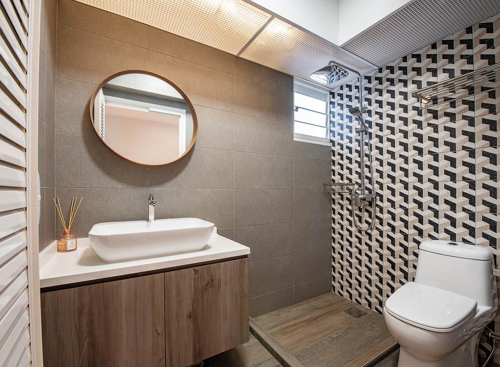 Contemporary, HDB, Bathroom, Yishun Avenue 9, Interior Designer, Dyel Design