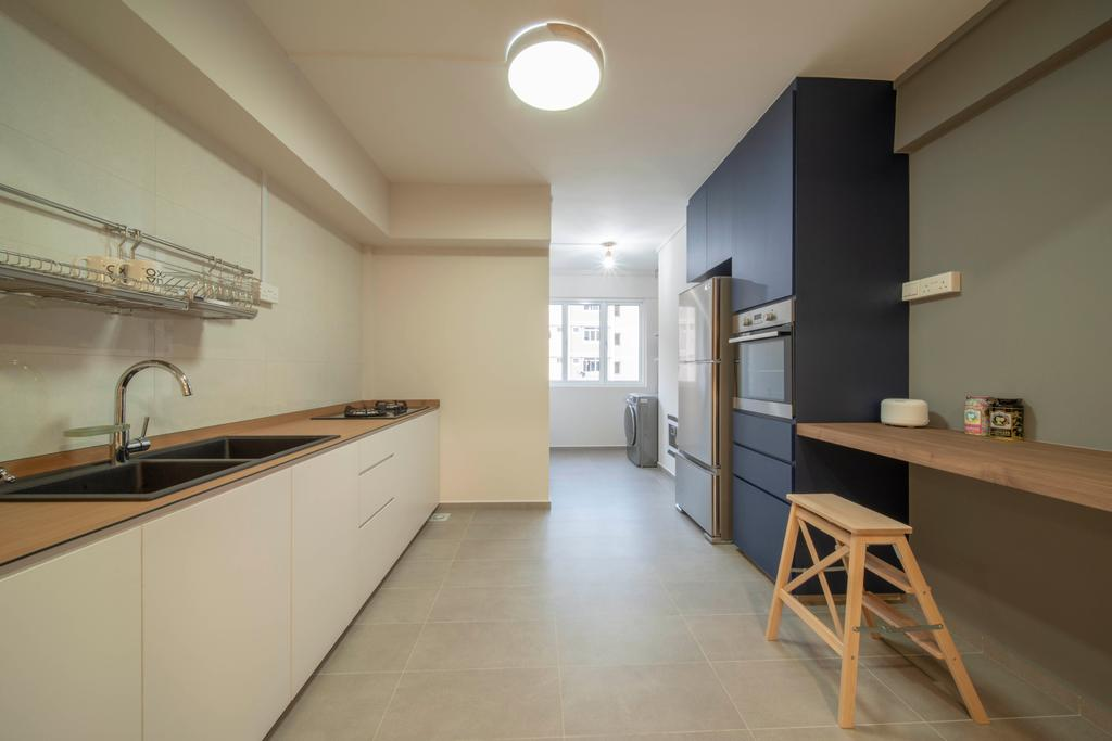 Scandinavian, HDB, Kitchen, Serangoon North Avenue 4, Interior Designer, Dyel Design