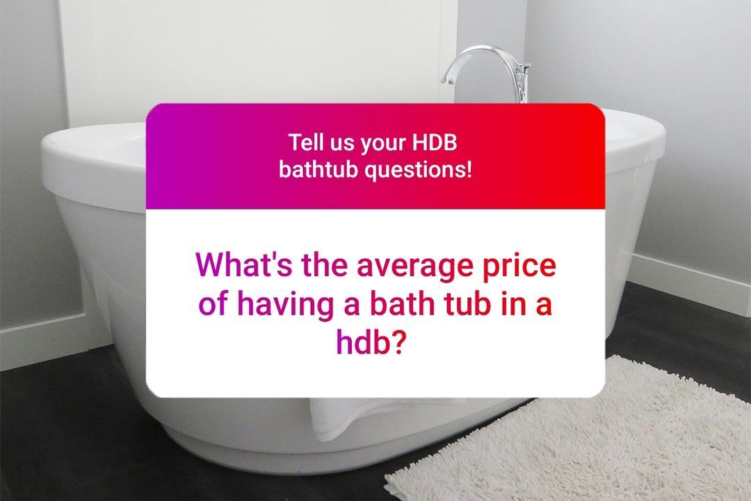 bathtub installation in HDB flats