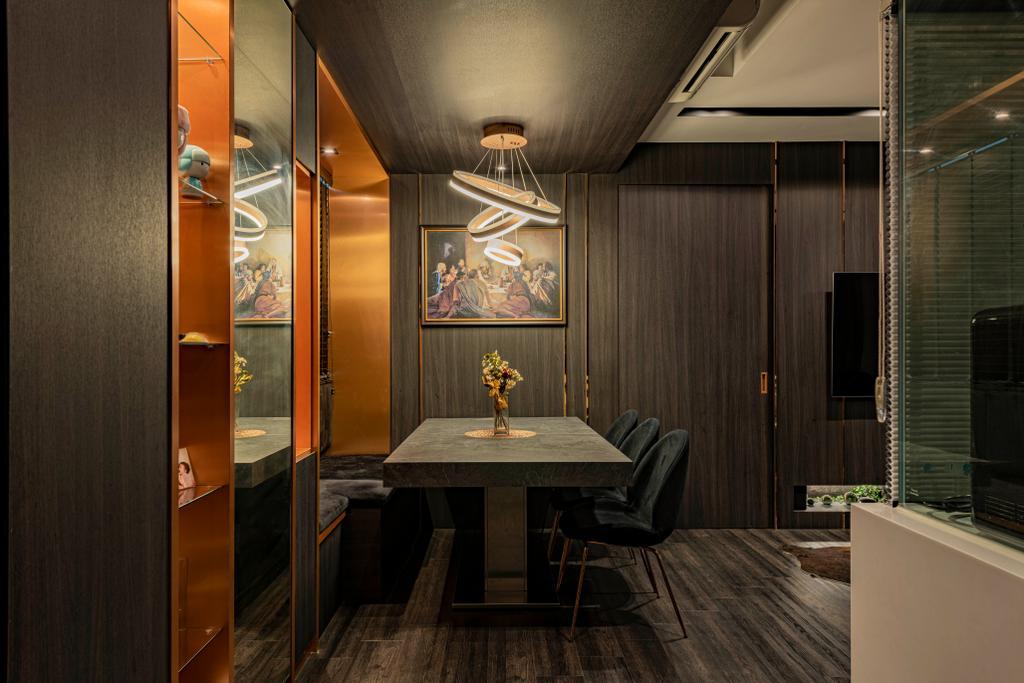 Contemporary, Condo, Dining Room, North Park Residences, Interior Designer, Fifth Avenue Interior