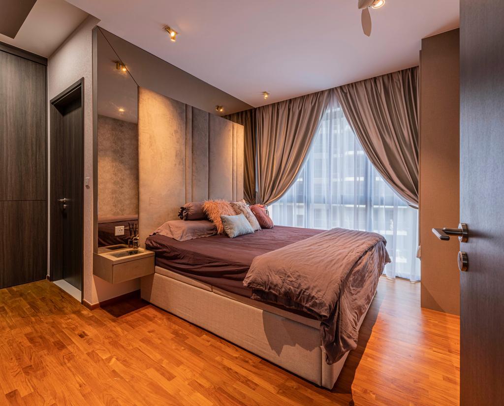 Contemporary, Condo, Bedroom, North Park Residences, Interior Designer, Fifth Avenue Interior