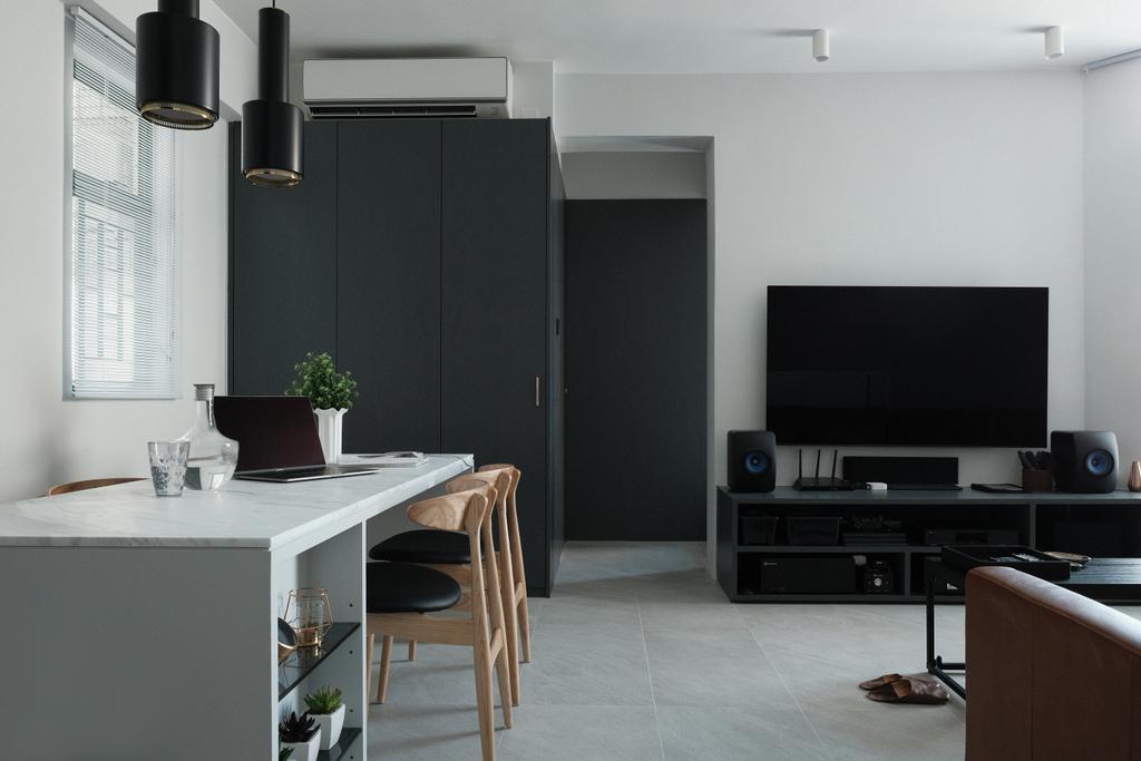 簡約, 私家樓, 客廳, 朗晴居, 室內設計師, Studio Roof