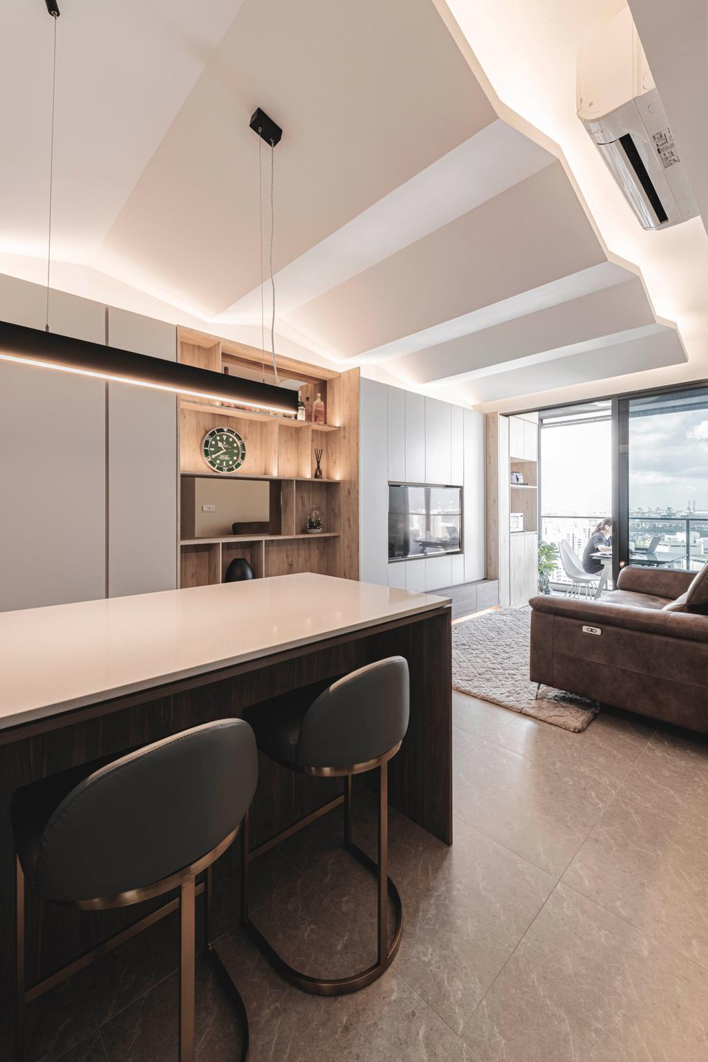 Contemporary, Condo, Dining Room, The Clement Canopy, Interior Designer, erstudio