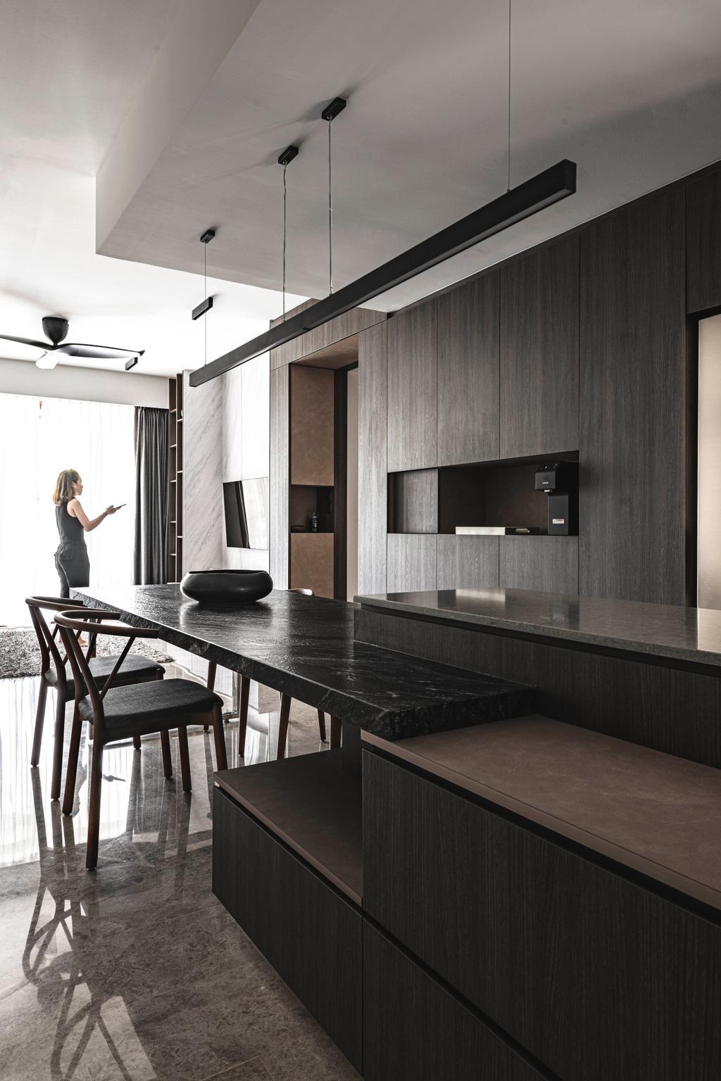 Industrial, Condo, Dining Room, Park Natura, Interior Designer, erstudio, Contemporary
