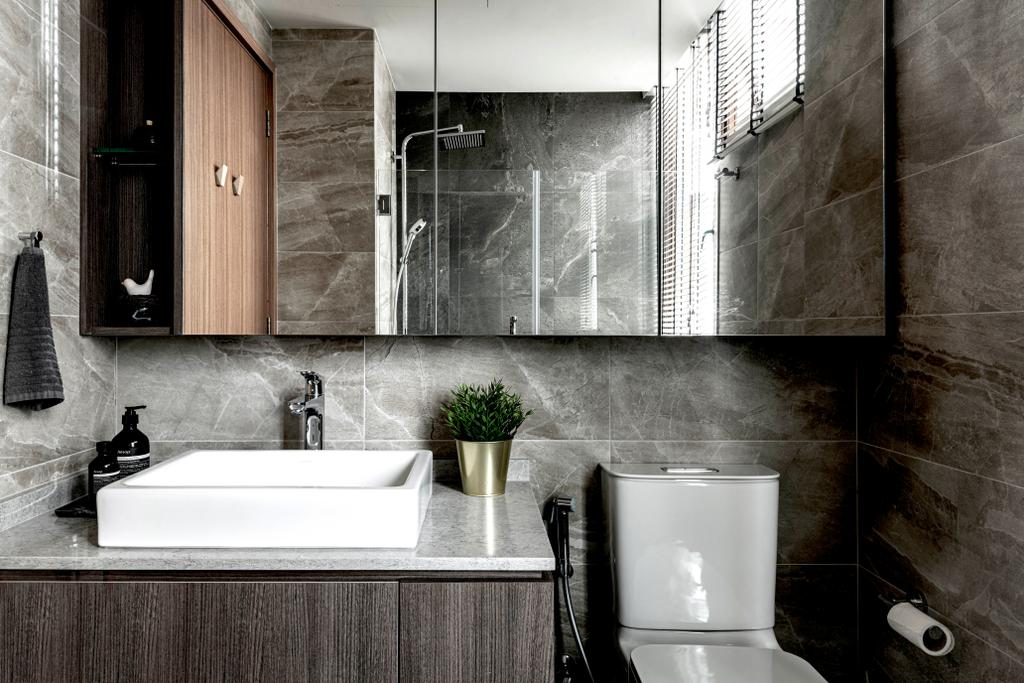 Industrial, Condo, Bathroom, Park Natura, Interior Designer, erstudio, Contemporary