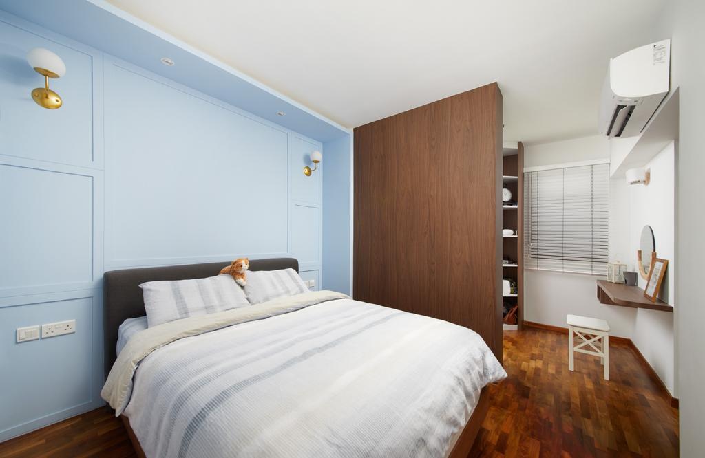 Modern, HDB, Bedroom, Dover Crescent, Interior Designer, Black N White Haus, Transitional