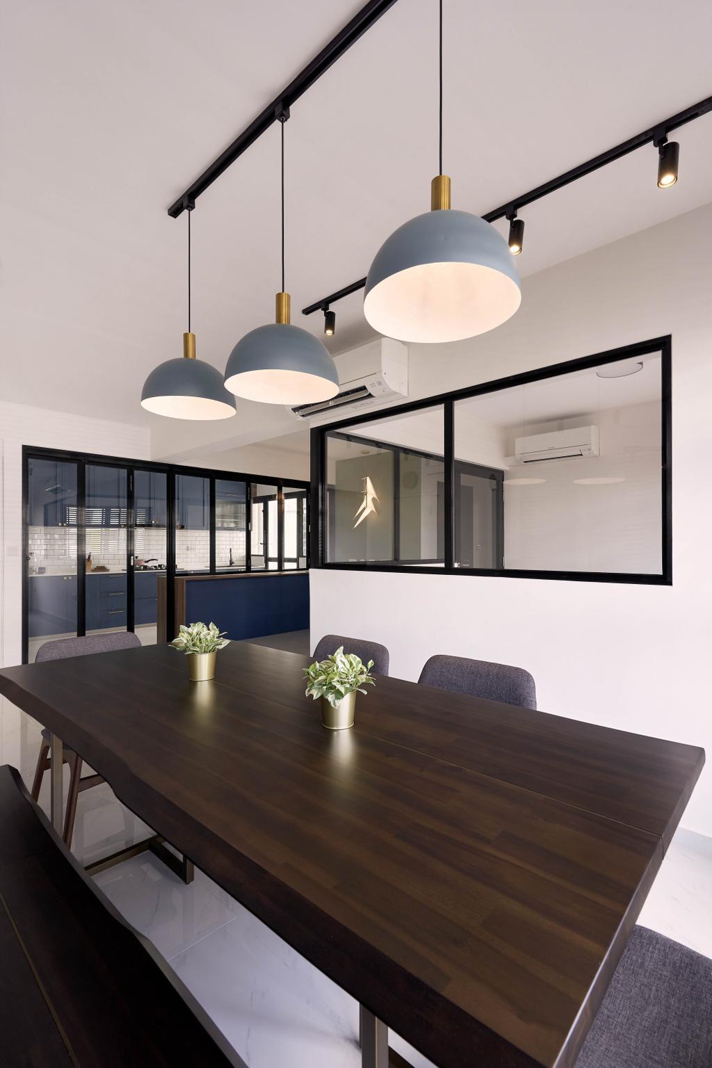 Modern, HDB, Dining Room, Tampines Avenue 9, Interior Designer, Archive Design, Industrial