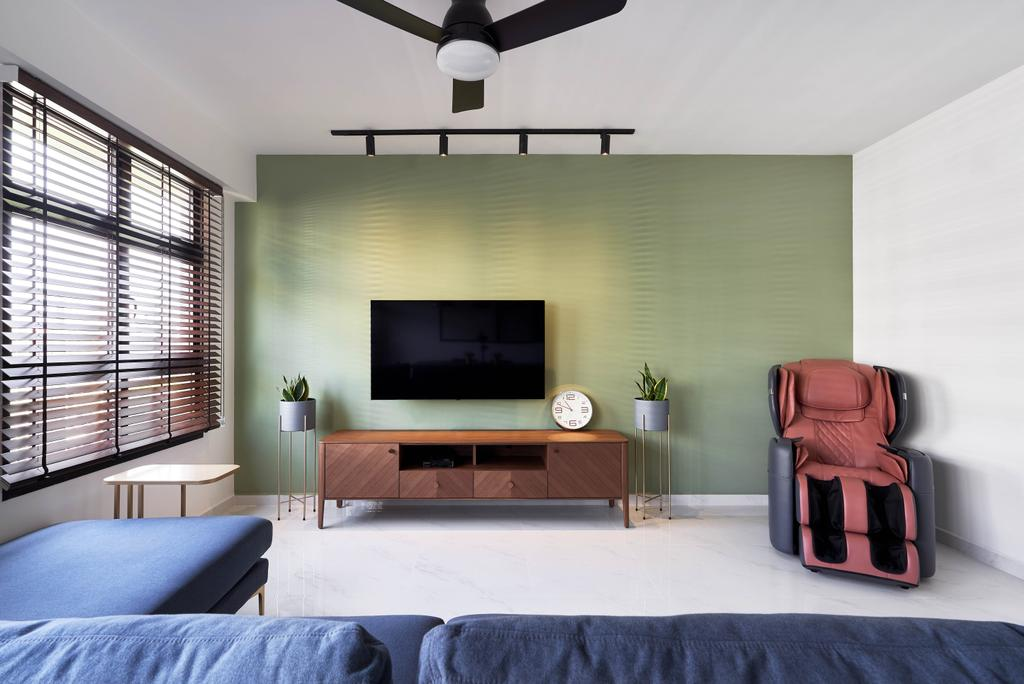 Modern, HDB, Living Room, Tampines Avenue 9, Interior Designer, Archive Design, Industrial