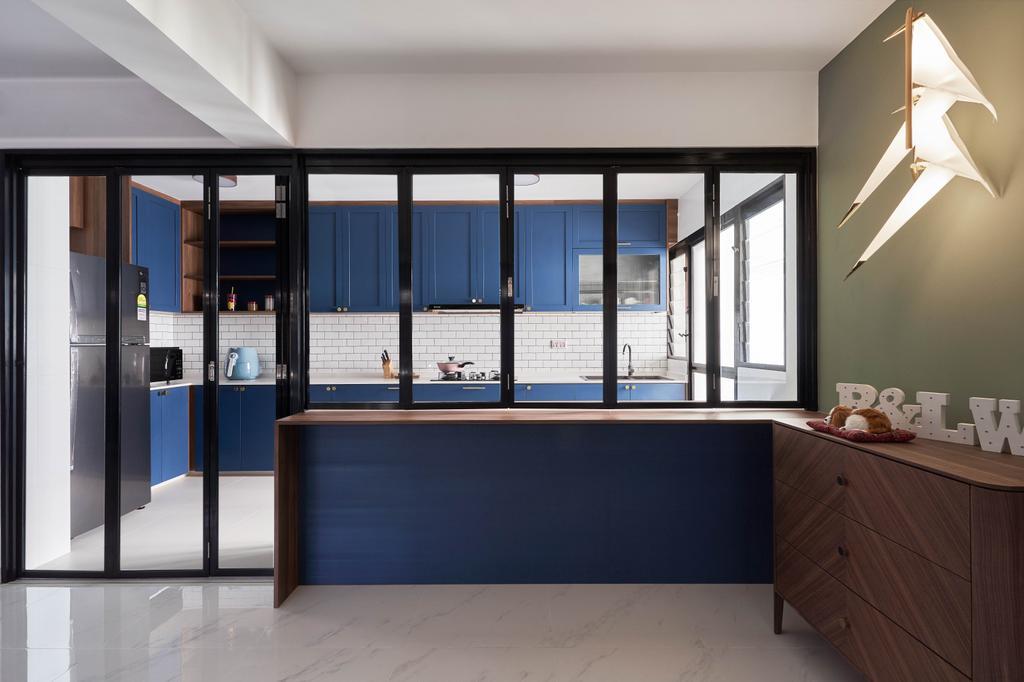 Modern, HDB, Kitchen, Tampines Avenue 9, Interior Designer, Archive Design, Industrial