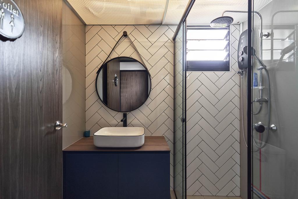 Modern, HDB, Bathroom, Tampines Avenue 9, Interior Designer, Archive Design, Industrial