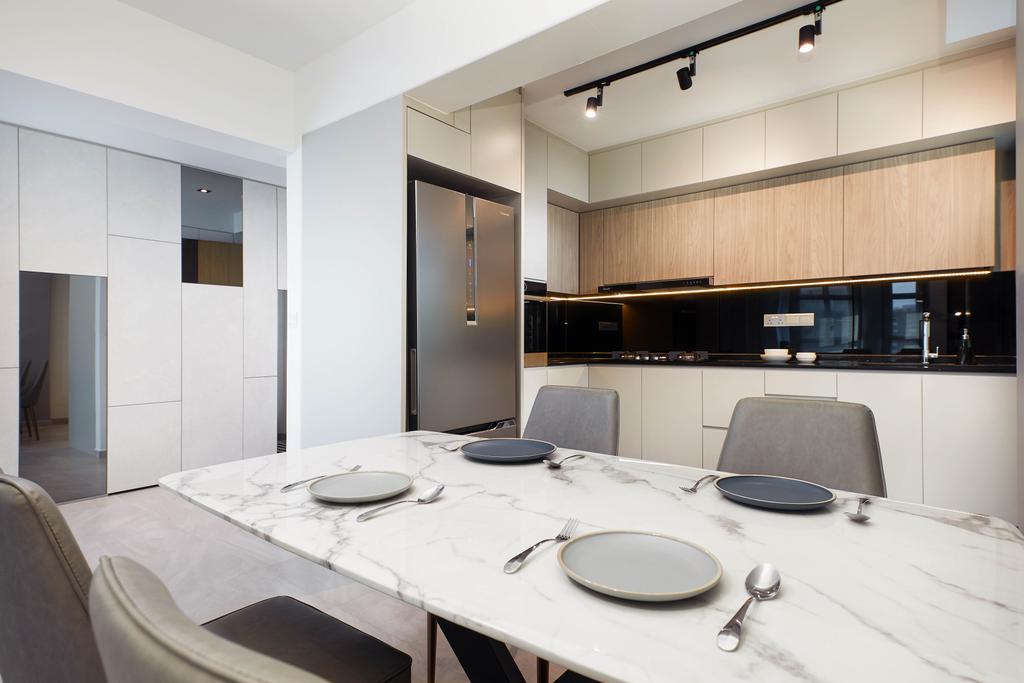 Contemporary, HDB, Dining Room, Edgedale Plains, Interior Designer, Jubilee Interior