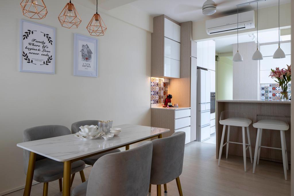 Contemporary, HDB, Dining Room, Tiong Bahru Road, Interior Designer, Briey Interior