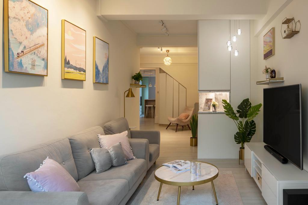 Contemporary, HDB, Living Room, Tiong Bahru Road, Interior Designer, Briey Interior