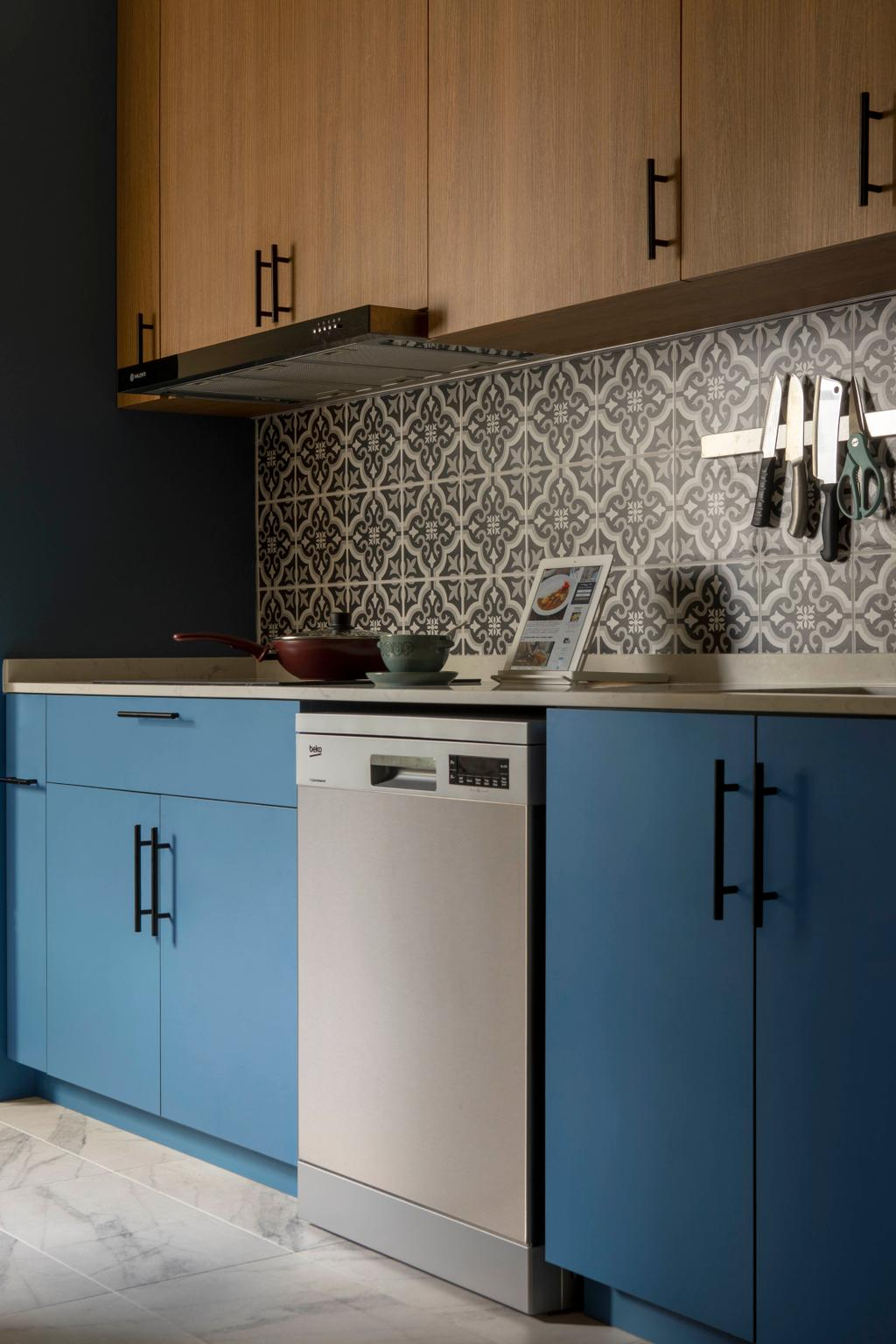 Modern, HDB, Kitchen, Jalan Membina, Interior Designer, Briey Interior, Scandinavian