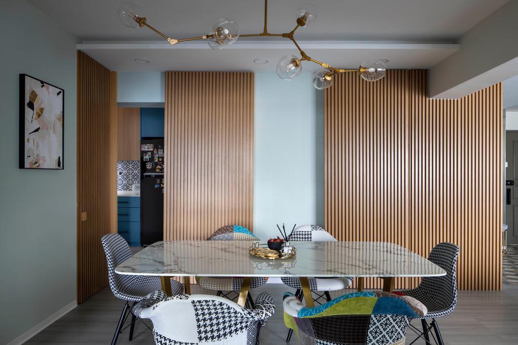 Modern, HDB, Dining Room, Jalan Membina, Interior Designer, Briey Interior, Scandinavian