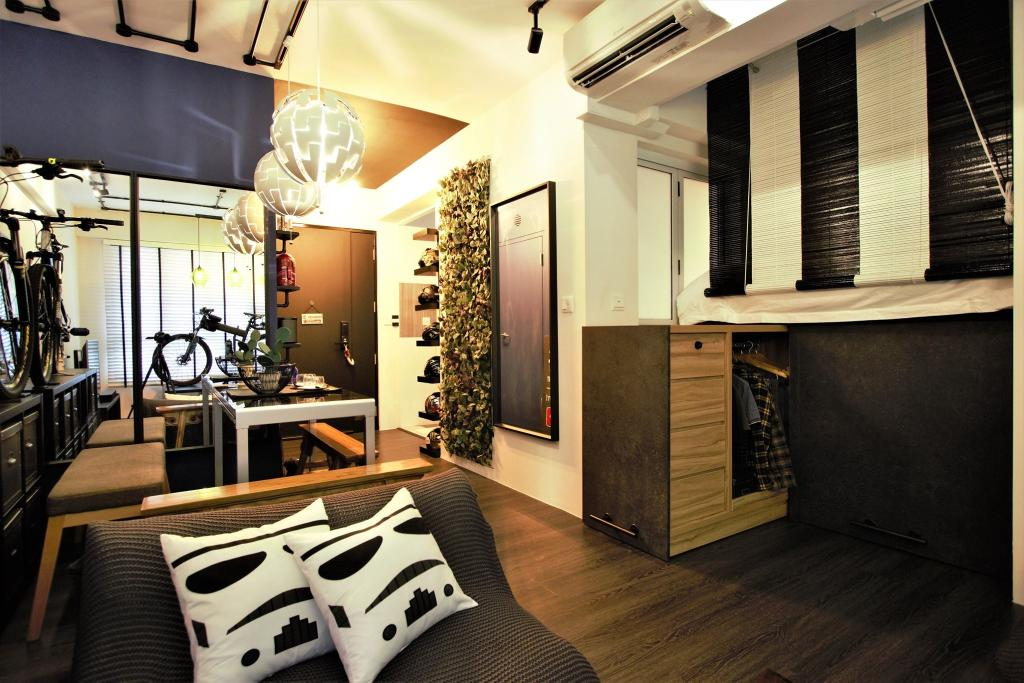 Modern, Condo, Living Room, RV Residences, Interior Designer, D'Phenomenal, Industrial, Eclectic