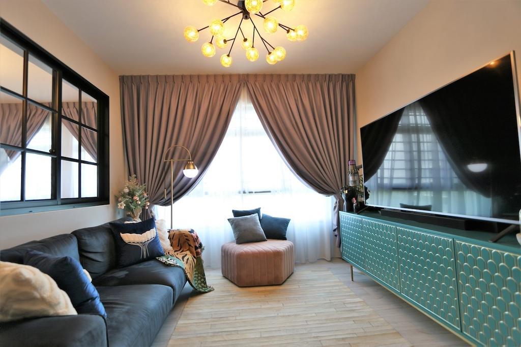 Modern, HDB, Living Room, Montreal Link, Interior Designer, D'Phenomenal, Contemporary