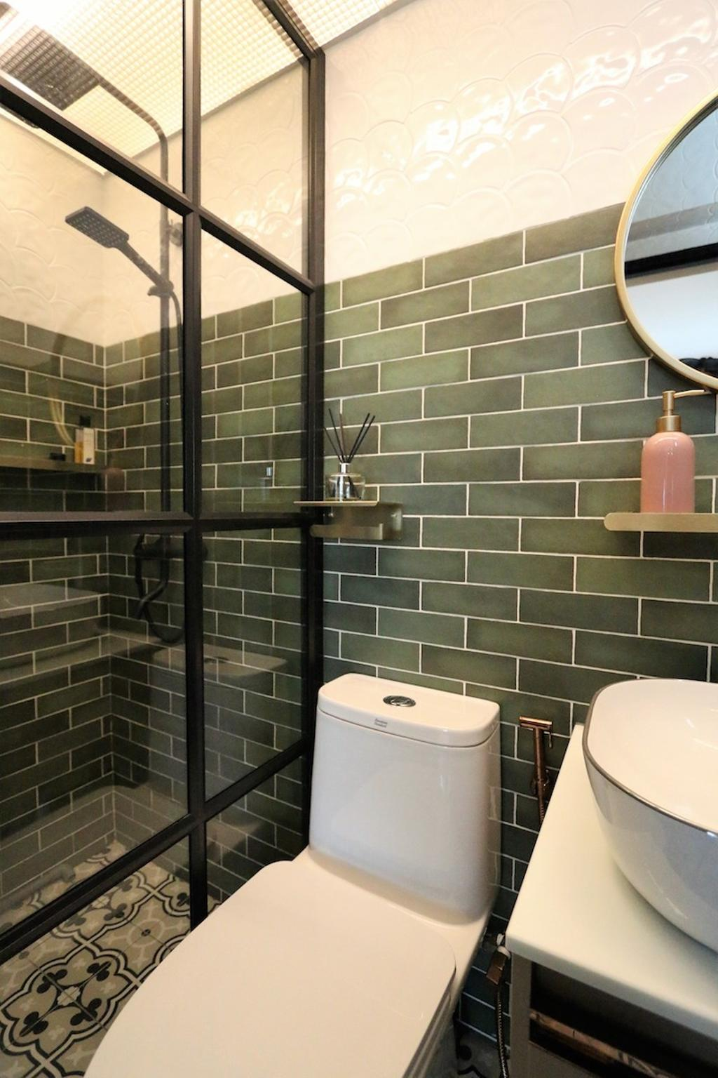 Modern, HDB, Bathroom, Montreal Link, Interior Designer, D'Phenomenal, Contemporary