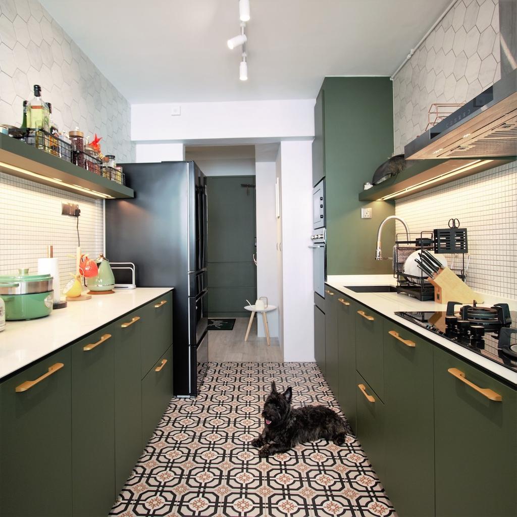 Modern, HDB, Kitchen, Montreal Link, Interior Designer, D'Phenomenal, Contemporary