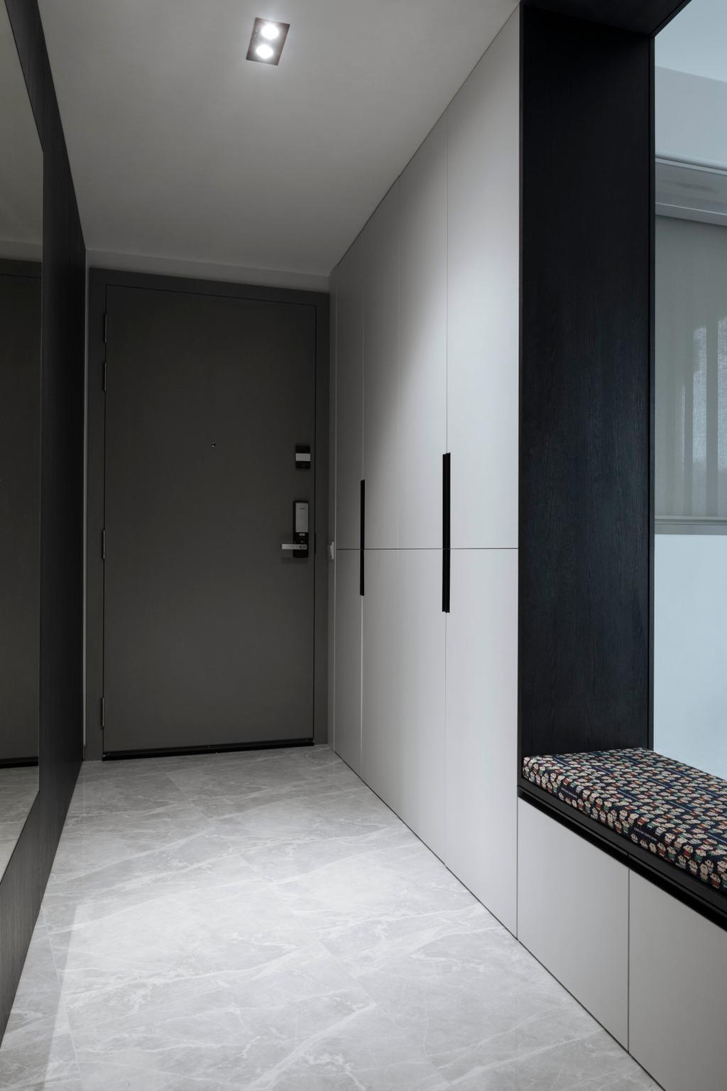 Contemporary, Condo, Living Room, Northwave, Interior Designer, Lite Design Collaborative, Hallway, Shoe Cabinet