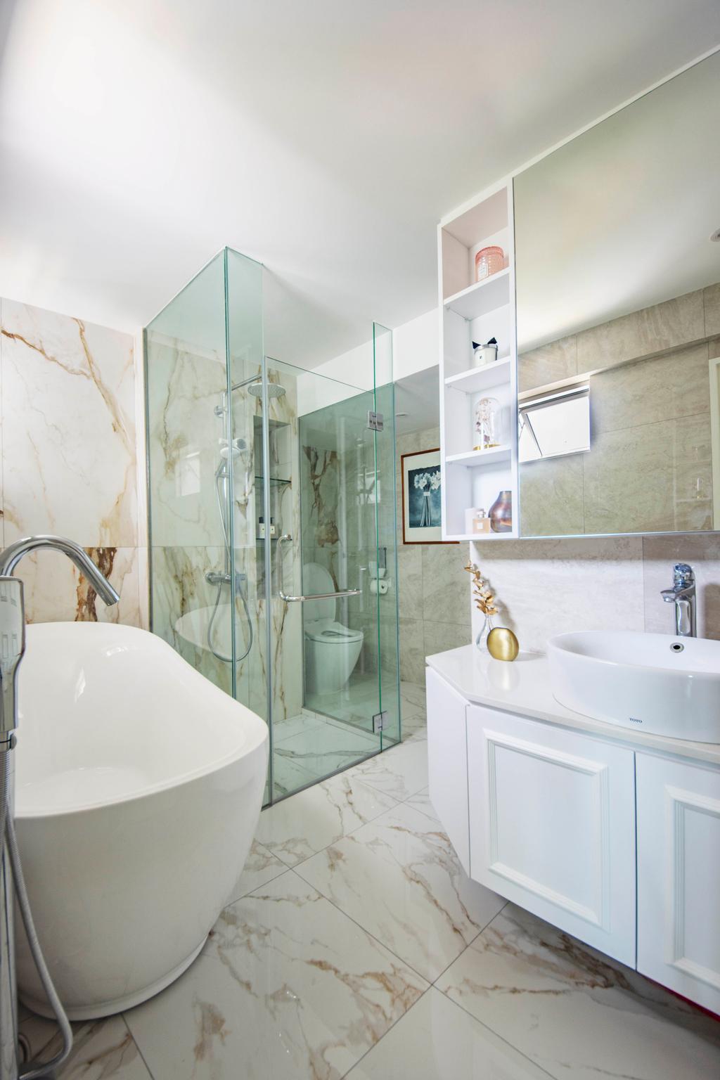 Modern, HDB, Bathroom, Pipit Road, Interior Designer, DISTINCTidENTITY, Contemporary