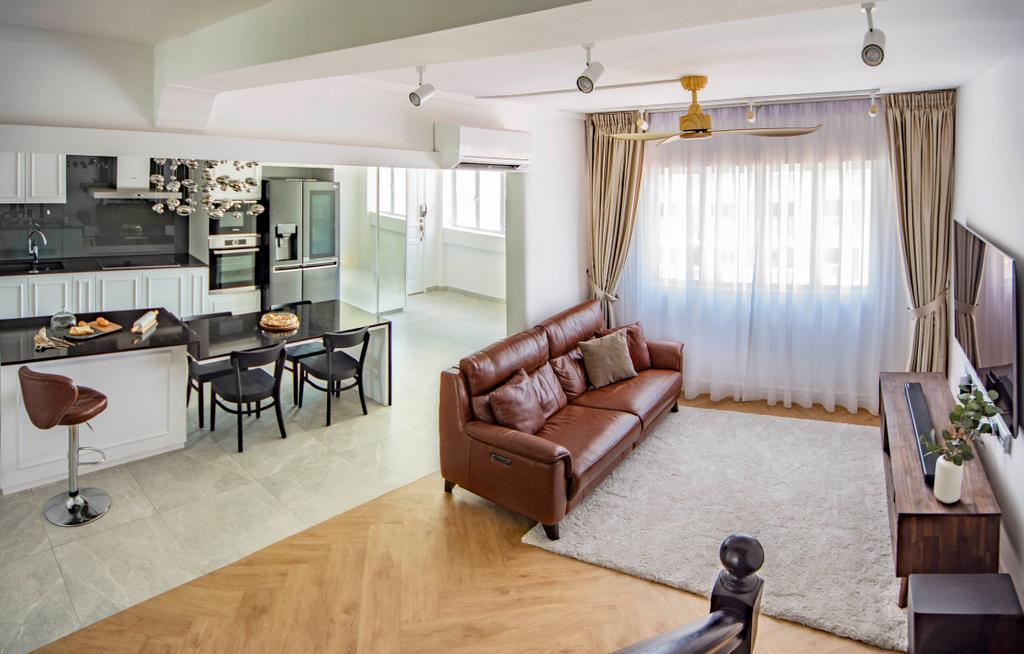 Modern, HDB, Living Room, Pipit Road, Interior Designer, DISTINCTidENTITY, Contemporary, Maisonette