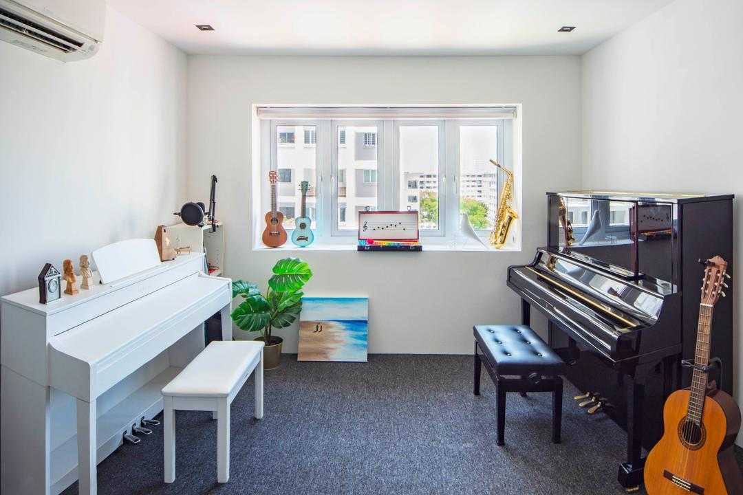 Pipit Road, DISTINCTidENTITY, Modern, Contemporary, Study, HDB, Music Room, Piano