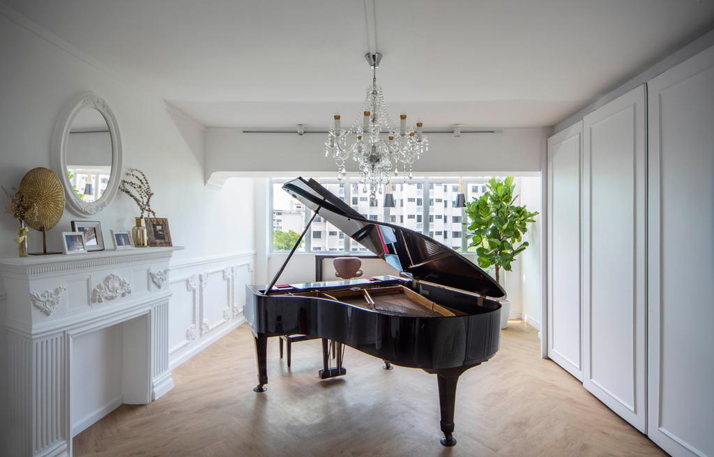 Modern, HDB, Study, Pipit Road, Interior Designer, DISTINCTidENTITY, Contemporary, Piano, Music Room