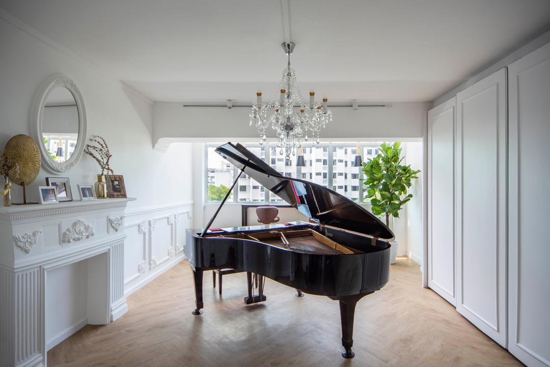 Pipit Road, DISTINCTidENTITY, Modern, Contemporary, Study, HDB, Piano, Music Room