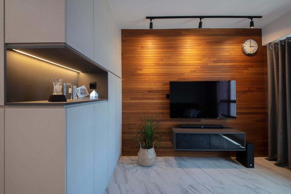 Contemporary, HDB, Living Room, Canberra Crescent, Interior Designer, The Safe Haven Interiors