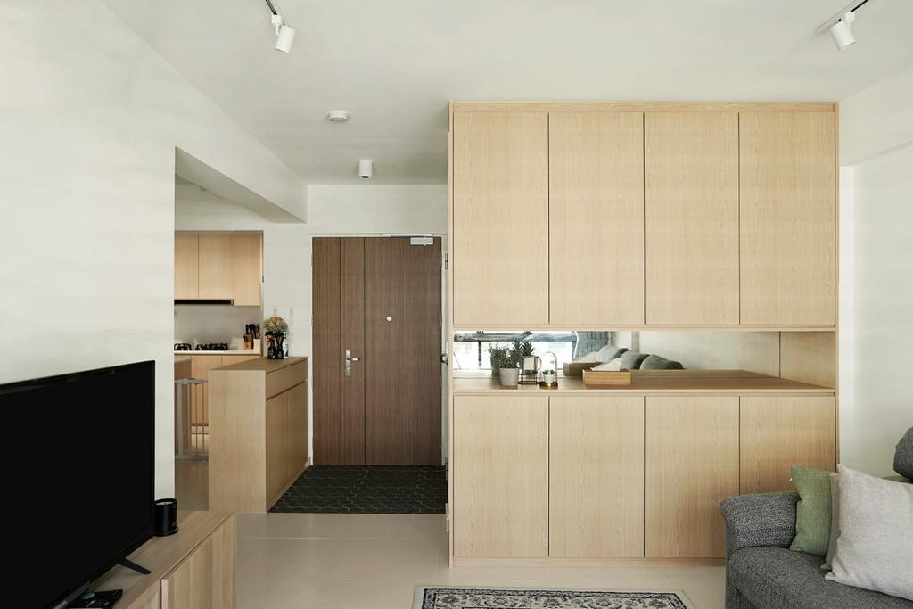 Minimalistic, HDB, Living Room, Tampines Street 61, Interior Designer, Authors • Interior & Styling